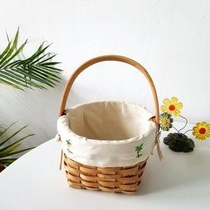 Other - Hawaiian Palm Tree Wicker Basket Decor Piece
